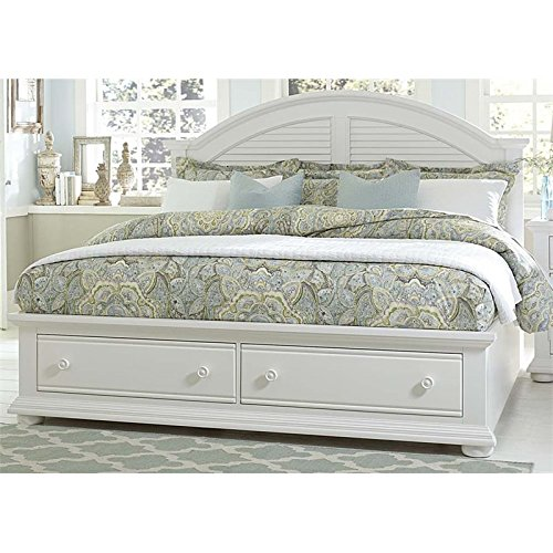 BOWERY HILL Queen Storage Bed in Oyster White