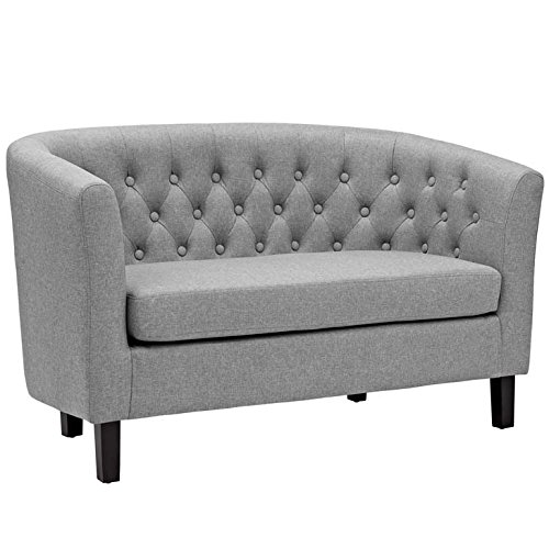 Modway Prospect Upholstered Contemporary Modern Loveseat In Light - Kids Chesterfield