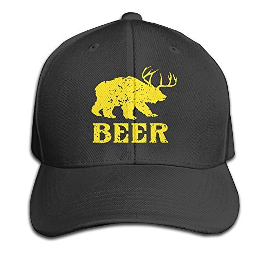 Beer Funny Deer Bear Animal Gift Flat-along Caps Designer Sun Hats