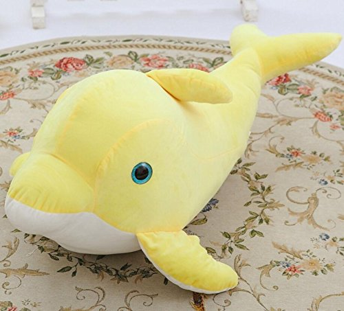 Driverder Intimo e Morbido Dolphin 45cm Morbido Peluche Cuscino Animale farcito Giocattolo Regalo per Bambini a casa Peluche (Giallo)
