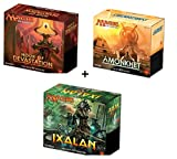 Magic the Gathering: Amonkhet, Hour Of Devastation (HoD), & Ixalan Sealed MTG Bundle Box (Fat Packs) 30 Boosters Perfect for Kids Teens Adults Collectors and Beginners