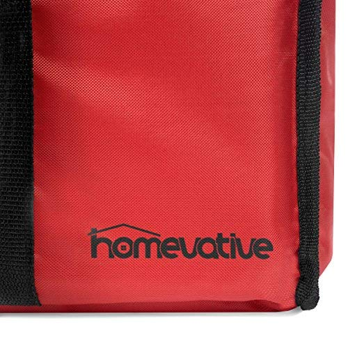Homevative (Extra Large 22'x14'x13') Nylon Insulated Food Delivery and  Reusable Grocery Bag - For Catering, Restaurants, Delivery Drivers, Uber  Eats,