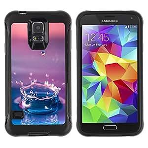 Pulsar Defender Series Tpu silicona Carcasa Funda Case para SAMSUNG Galaxy S5 V / i9600 / SM-G900F / SM-G900M / SM-G900A / SM-G900T / SM-G900W8 , Water Drop Gradient Purple