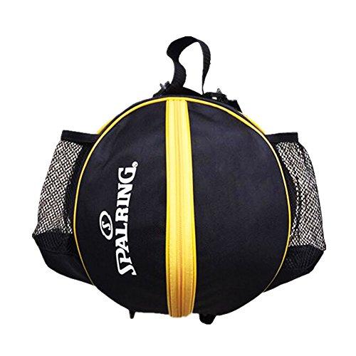 George Jimmy Fashion Cool Basketball Bag Training Bag Single-shoulder Soccer Bag-Black by George Jimmy