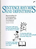 Sentence Rhymes and Definitions, Linda G. Richman, 0884509699
