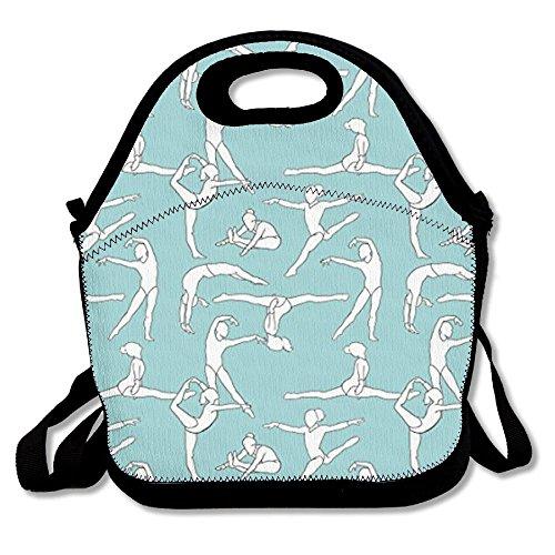 Gymnastics Gymnasts Patterned Lunch Bag/Box (Gymnastics Lunch)