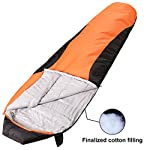 VERZEY Mummy Camping Sleeping Bag Great For 4 Season Traveling Camping Hiking Outdoor Activities Waterproof Sleeping Bag For AdultsKidsBoys And GirlsRed Black Mummy
