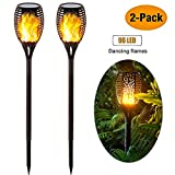 Solar Garden Lights,Waterproof Realistic Dancing Flames Light, 3...