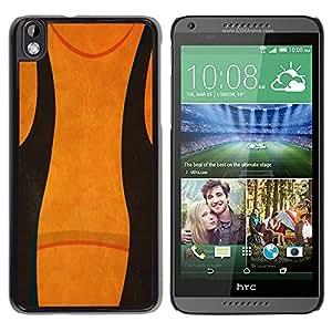 LECELL--Funda protectora / Cubierta / Piel For HTC DESIRE 816 -- Abstract Black Orange --