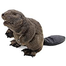 Folkmanis Puppets Beaver Hand Puppet, Brown