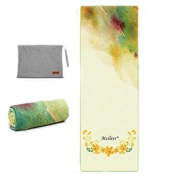 Shengtangb Yoga Esterilla Microfibra Toalla Antideslizante ...