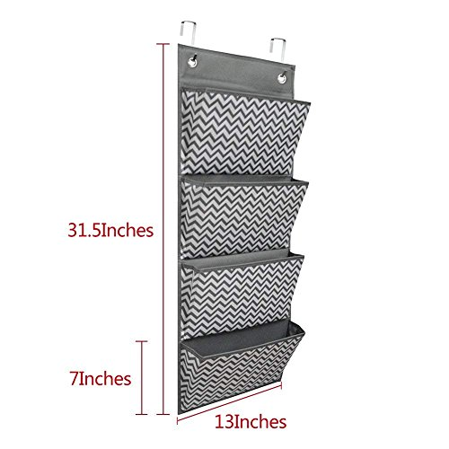 Cascading File Organizer,Hanging Wall File Organizer,Storage Pocket Chart 4 Pockets with 2 Hangers by Eamay for School Office Home Organize Assignments,Files,Scrapbook Paper by Eamay (Image #4)