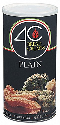 4C Bread Crumbs Plain, 15 oz Canister (Pack of 2)