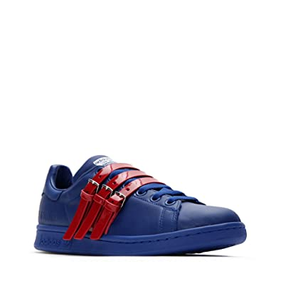 059e2be2a43 Image Unavailable. Image not available for. Color  Adidas X Raf Simons Stan  Smith Strap Sneakers ...