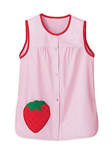 Wright Strawberry - Carol Wright Gifts Fruit Pocket Cobbler, Color Strawberry, Size Extra Large (3X), Strawberry, Size Extra Large (3X)
