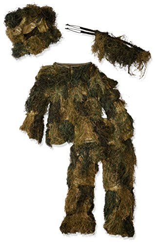 Red Rock Outdoor Gear Men's Youth Ghillie Suit, Woodland Camouflage, 14-16 for $<!--$39.01-->