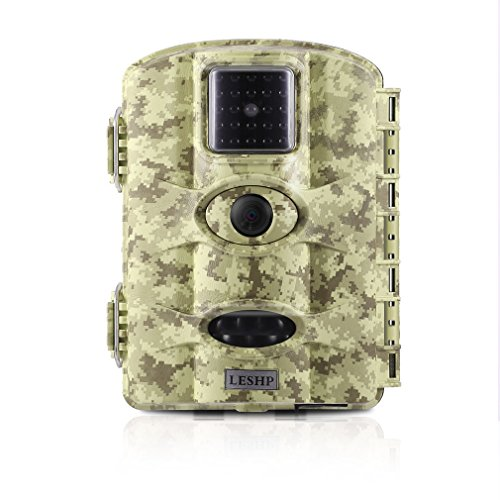 Hunting Trail Game Camera, Elepawl 1080P 12MP Wildlife Motion Activated Camera Cam with Night Version, 2.4'' LCD Screen, PIR Sensor, Waterproof for Animal/Event Observation Surveillance (Desert)
