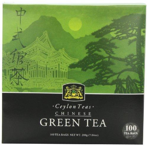Thé de Ceylan, vert chinois, sachets de thé 100-Count (pack de 2)