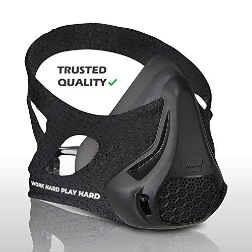 Workout Mask | Training Mask High Altitude Running Peak Resistance Breathing Oxygen Sport Fitness Cardio Endurance Gym Jogging Exercise Men Women Adult Elevation Simulation HIIT Trainer (16025)