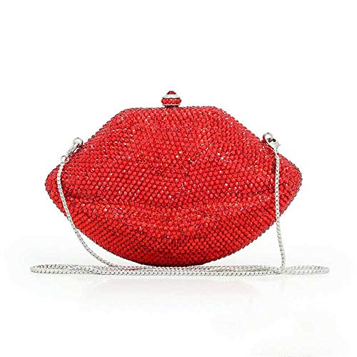 Big Bolso De Mini Chain Lips Dinner Boda La Red Hand Señoras Bolsa Las Pequeña Monedero Grab Ghpter Crystal Bag Noche qIaRSS