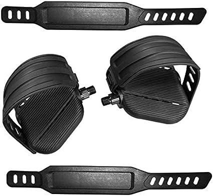 """SBDs World Class Designer BIKE Pedals w// Straps  Shaft Thread Size 1//2/"""" PAIR L+R"""