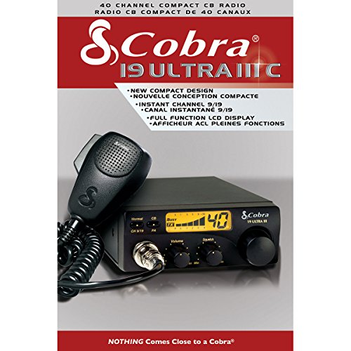 Cobra 19ULTRAIII 40 Channel Compact CB Radio with Illuminated Display Canadian ()