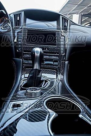 2014 2015 2016 2017 2018 2019 Interior Real Carbon Fiber Dash Trim KIT Set for Infiniti Q50 Q 50 Q 50a