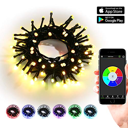 100 Led C 5 Holiday Christmas Lights Multi Color in US - 6