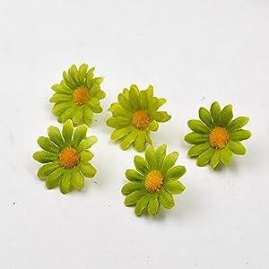 100pcs Artificial Flower Small Silk Sunflower Handmade Head Wedding Decoration DIY Wreath Gift Box Scrapbooking Craft Fake Flowe 4