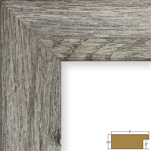 Craig Frames 74030 20 by 24-Inch Picture Frame, Smooth Wrap Finish, 2-Inch Wide, Gray Barnwood