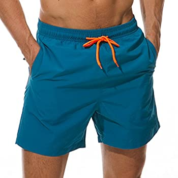 - 51Zi35w2GsL - SILKWORLD Men's Swim Trunks Quick Dry Beach Shorts with Pockets