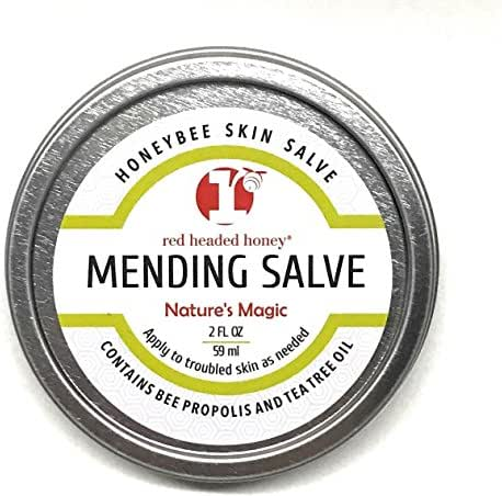 red headed honey's Propolis and Tea Tree Oil All Purpose Healing Skin Salve Tin Natural Treatment, 2 oz.
