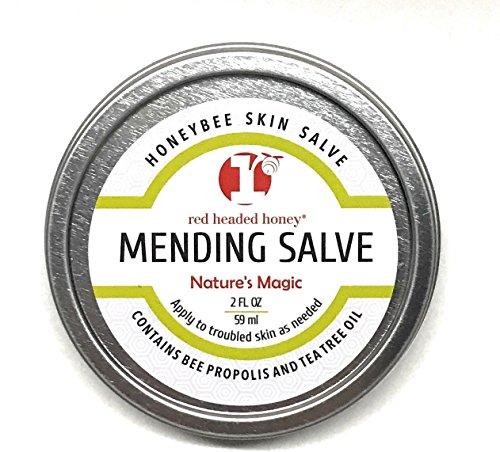 (red headed honey's Propolis and Tea Tree Oil All Purpose Healing Skin Salve Tin Natural Treatment, 2 oz.)