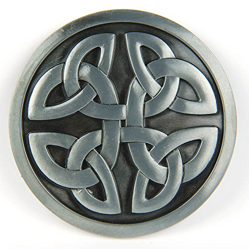 Nice Celtic Cross Knot Mystic Circle Metal Belt Buckle Silver Triquetra Gothic Irish for sale