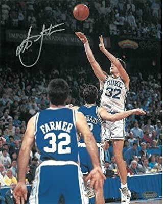 Christian Laettner Signed Duke Blue Devils Vertical 16x20 Photo 1992 The Shot vs Kentucky Buzzer Beater- - Autographed College Photos