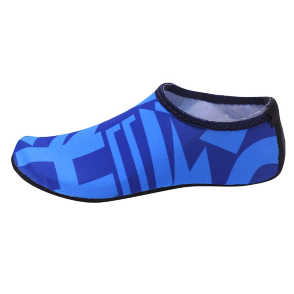 LisYOU Water Sports Shoes Unisex Barefoot Skin Quick Dry Aqua Yoga Running Surfing Swim Beach Exercise Socks (CN 38-39, A-Dark Blue)