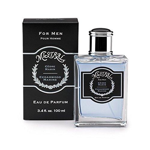 Eau De parfum Spray Mistral masculin, bois de cèdre Marine, 3,4 onces fluides