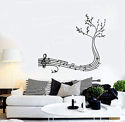 l Music Notes Tree Cool Guaranteed Quality Decal Mural Art G2127 ()