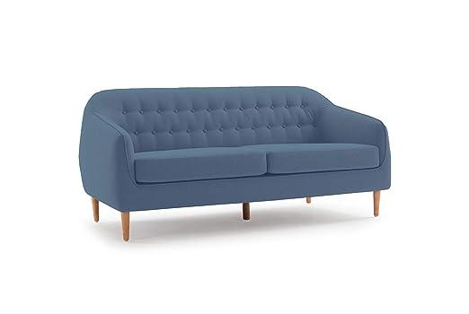 Meubletmoi Erika - Sofá de 3 plazas de Tejido cómodo, diseño ...