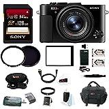 Sony RX1R II Compact Digital Camera w/128GB SD Card & Focus Accessory Bundle