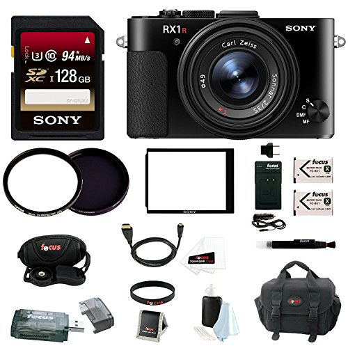 Sony RX1R II Compact Digital Camera w/128GB SD Card & Focus Accessory Bundle -  ASONDSCRX1RM2BK1
