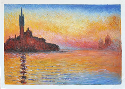 roya-art-san-giorgio-maggiore-at-dusk-hand-painted-reproduction-oil-painting-monet-by-professional-a