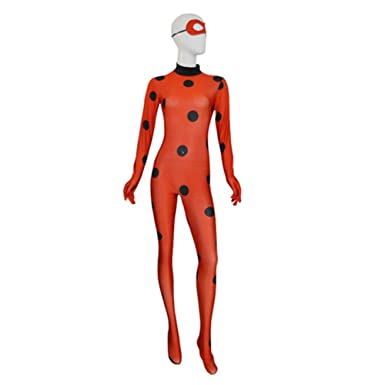 Miraculous Ladybug Girl Cosplay Suit Red Ladybug Halloween Costume (XS)  sc 1 st  Amazon.com : ladybug halloween costume adults  - Germanpascual.Com