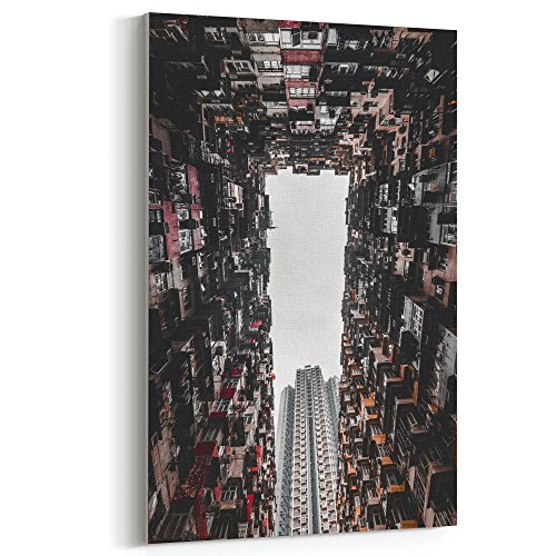 Westlake Art - Canvas Print Wall Art - Urban Area on Canvas Stretched Gallery Wrap - Modern Picture Photography Artwork - Ready to Hang - 12x18 (f30 c41)