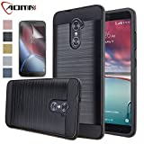 zte imperial 2 cases - ZTE Imperial Max Case, ZTE Grand X Max 2 Case, Aomax Hard Silicone Rubber Hybrid Armor Shockproof Protective Cover With HD Screen Protector For ZTE Kirk Z988 / Zmax Pro / Duo Z963U (VLS Black) New