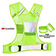 Reflective Vest for Running Cycling Dog Walking Motorcycle – 3M Scotchlite High Visibility…