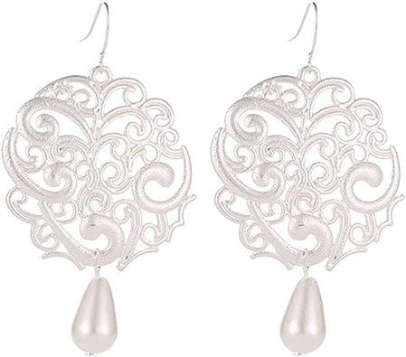 Fashion Women Hollow Leaves Dangle Hook Earring Bohemia Charm Jewelry 8C