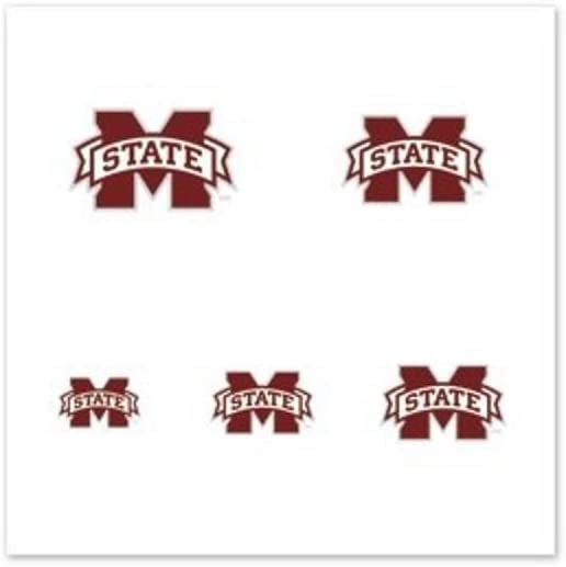 Mississippi State Bulldogs Official NCAA 1 Fingernail Tattoo Set by Wincraft