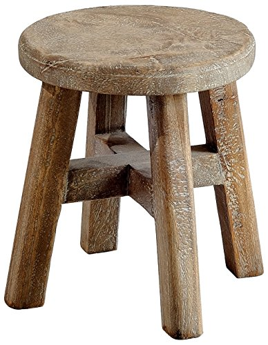 Casual Elements Child Stool (Set of 2), Rustic Mango Grey Wash by Casual Elements