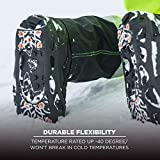 Ergodyne TREX 6304 Performance Traction Cleat Grips Ice and Snow, One-Piece Easily Attaches Over Shoe/Boot with Carbon Steel Spikes to Provide Anti-Slip Solution, Large